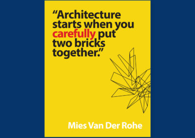 "Poster series ""architecture values"""