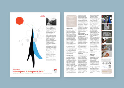Calder sculptures restoration brochures