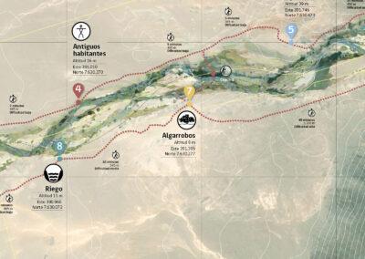 Mapas de recorrido y sistema de señales en parajes naturales